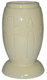 Vaza ceramica cimitir W1 - Crem